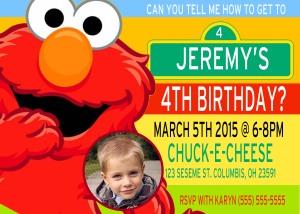Sesame Street 2 Birthday Invitation
